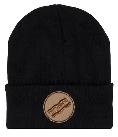 Bacon Black Beanie Hat